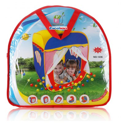 Excelvan kids Toddlers Pop-up Play Tent Portable Folding Square Children Game Play Tent With 2-Doors, Kids Fun Indoor Outdoor Playhouse Game Toy