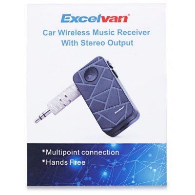 Excelvan BT12 Car Wireless Bluetooth Music Receiver with Stereo Output