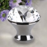 Finether 8 X 30MM Clear Crystal Glass Door Knob