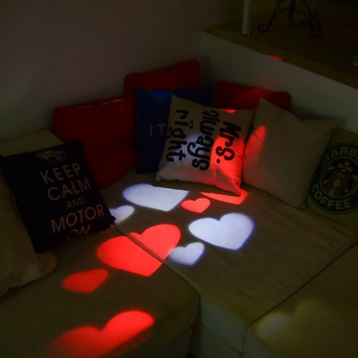 Excelvan Red and White Love Heart LED Projector Light