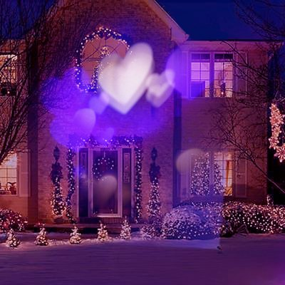 Excelvan Purple and White Love Heart LED Projector Light