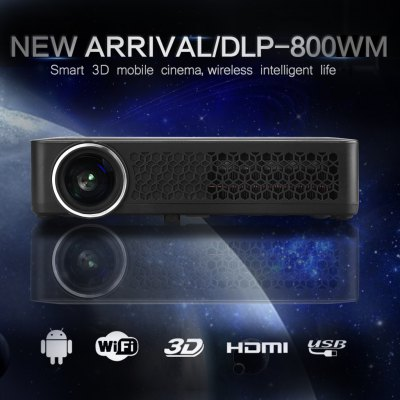 Home Theater DLP 800WM Native Support 1080p Projector