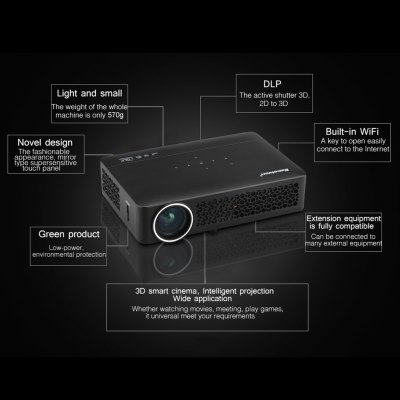 Home Theater DLP 800WM Native 1280*800 support 1080p  ProjectorProjectors<br>Home Theater DLP 800WM Native 1280*800 support 1080p  Projector<br>