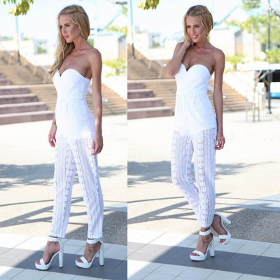 2016 new arrival lace stitching hollow-out conjoined trousers woman sexy strapless jumpsuitsJumpsuits &amp; Rompers<br>2016 new arrival lace stitching hollow-out conjoined trousers woman sexy strapless jumpsuits<br>
