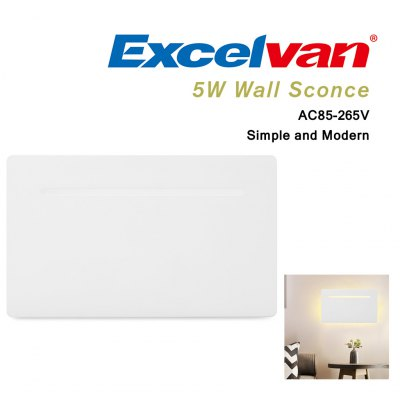 Excelvan YMBD - PB 5W Flat Wall Sconce Ceiling Lamp