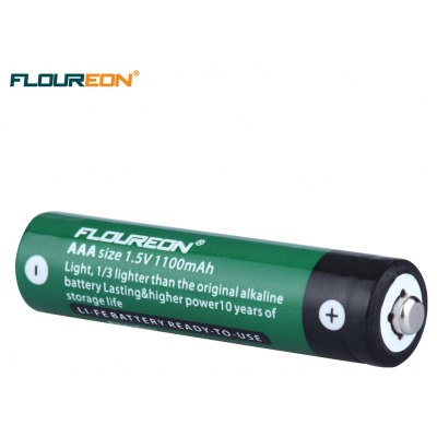 Floureon 4pcs AAA 1100mAh Li-Fe Battery