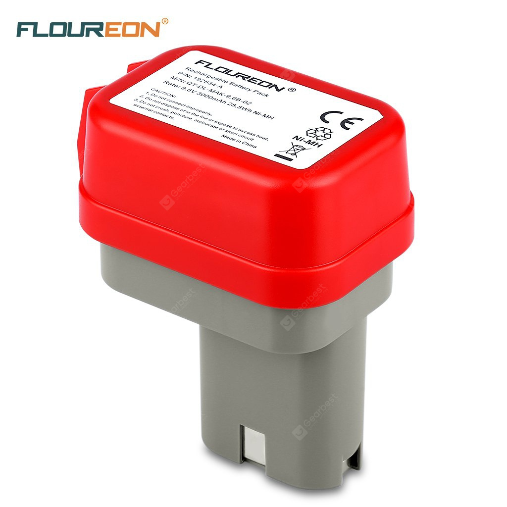 FLOUREON 9.6V 3000mAh Ni-MH Battery