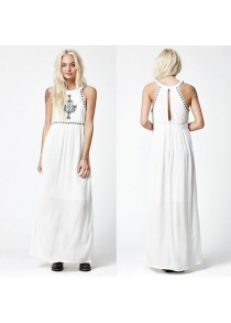 2016 new arrival sexy off the shoulder design woman sleeveless elegant dress