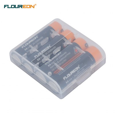 12PCS FLOUREON AA 1.2V 2500mAh Ni-MH Rechargeable Battery