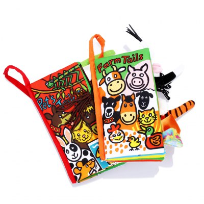 2pcs Baby Educational Development Cloth Book