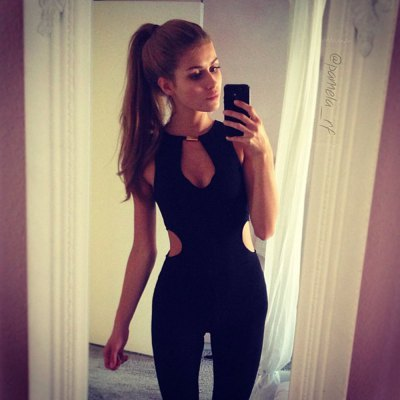2016 new style sexy V-neck hollow out design backless woman zipper jumpsuitJumpsuits &amp; Rompers<br>2016 new style sexy V-neck hollow out design backless woman zipper jumpsuit<br>
