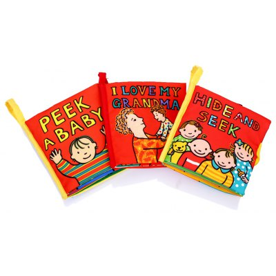 3pcs Baby Educational Development Cloth Book