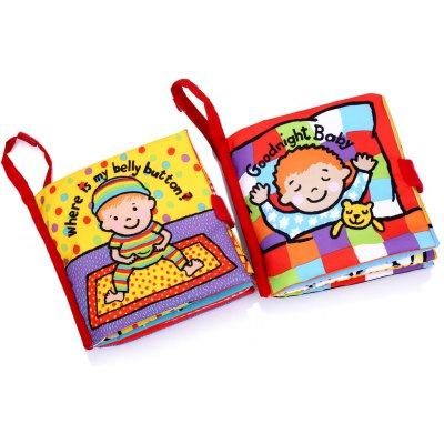 2pcs Toddlers Educational Development Cloth Book