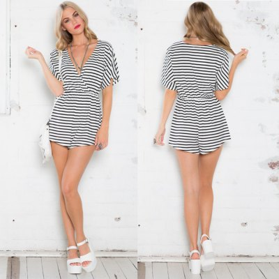 2016 new arrival summer style sexy v-neck design woman  fashion casual striped dressShorts<br>2016 new arrival summer style sexy v-neck design woman  fashion casual striped dress<br>