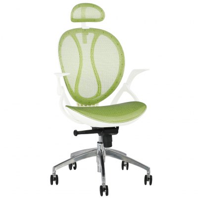 (IT MCA188 GREEN) Finether High-Back Swivel Green Mesh Executive Office Chair, Computer Chair with Synchro-Tilt with 3-Position Locking, Adjustable Headrest and Armrest, 140 Kg CapacityOffice Standing Desk<br>(IT MCA188 GREEN) Finether High-Back Swivel Green Mesh Executive Office Chair, Computer Chair with Synchro-Tilt with 3-Position Locking, Adjustable Headrest and Armrest, 140 Kg Capacity<br>