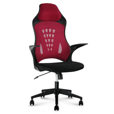 (IT MCT066 RED) Finether High-Back Swivel Red Mesh Office Chair, Computer Gaming Chair with Knee-Tilt, 130 Kg CapacityOffice Standing Desk<br>(IT MCT066 RED) Finether High-Back Swivel Red Mesh Office Chair, Computer Gaming Chair with Knee-Tilt, 130 Kg Capacity<br>