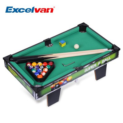 Excelvan Mini Table Top Pool Table Game 19 Inch Billiard Table