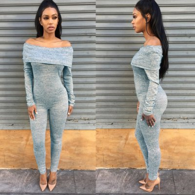 2016 new arrival summer sexy a word shoulder design woman casual style pure color jumpsuitsJumpsuits &amp; Rompers<br>2016 new arrival summer sexy a word shoulder design woman casual style pure color jumpsuits<br>