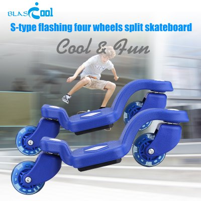 Blascool S01A S-shape Two Wheels Split Skateboard