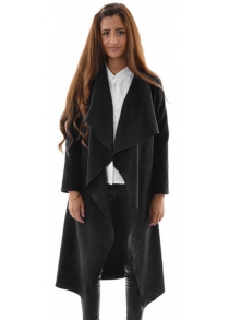 2016 autumn winter fashion big lapel casual woman long style coat