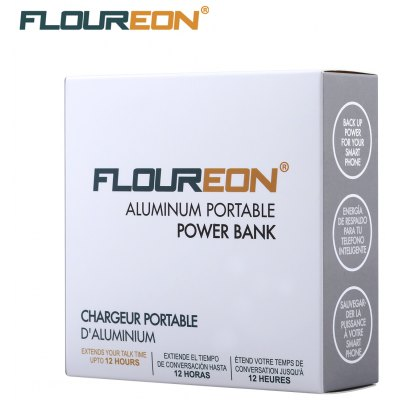 Floureon 3400mAh Mini Portable Charger External Battery Power Bank for Cell Phone