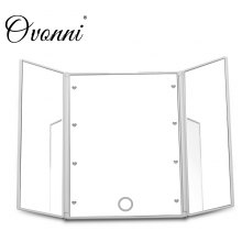 Ovonni L201A Tri Fold Adjustable Led Lighted Travel Mirror