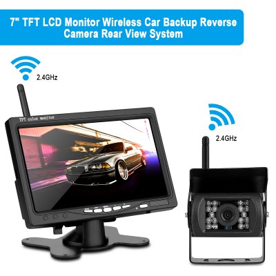 WD - 780SY Car Rear View 7 inch TFT Color Monitor Wireless Camera