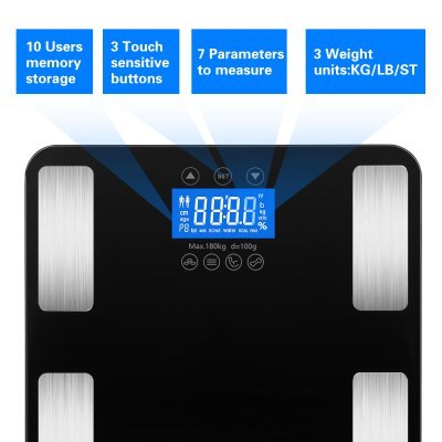 Excelvan Touch 400 lb Digital Body Fat ScaleBody Scale<br>Excelvan Touch 400 lb Digital Body Fat Scale<br>