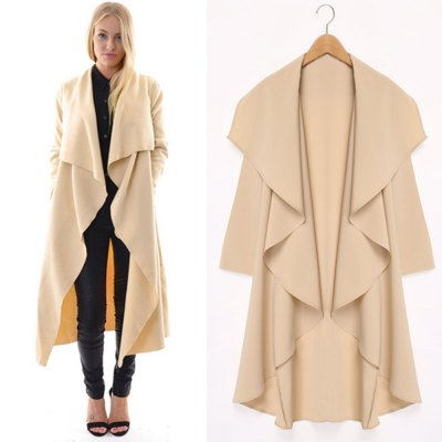 2016 autumn winter fashion big lapel casual woman long style coatJackets &amp; Coats<br>2016 autumn winter fashion big lapel casual woman long style coat<br>