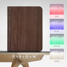 Lampwin® Wooden Foldable LED Nightlight Booklight & LED Folding Book Lamp, Electromagnetic Induction Technology, 2500mAh Lithium Batteries Up To 8 Hours Usage,Magnetic,USB Rechargeable,4 Color Choosab