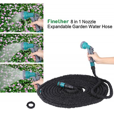 Finether 25 FT Flexible Garden Water Hose Latex Pipe