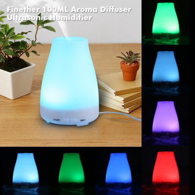 Finether Aroma Diffuser Ultrasonic Humidifier Air Mist Aromatherapy Purifier 100ML FH-002 US