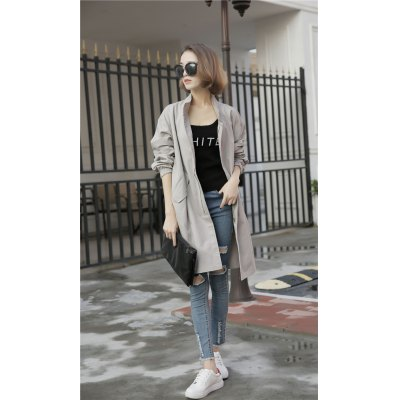 Casual Trench Coat 2016 Fall New Arrival  Plus Size Trench Coat for Women  Slim Windbreaker Female Desigual Long Coat Femme Ladies Trenchcoat