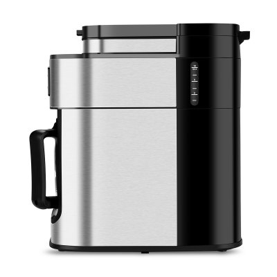 Excelvan 1050W, 1.25L 10-Cup Automatic Programmable Coffee maker, Built-in Grind-and-Brew Includes Permanent Reusable S/S Filter- Silver and BlackOthers<br>Excelvan 1050W, 1.25L 10-Cup Automatic Programmable Coffee maker, Built-in Grind-and-Brew Includes Permanent Reusable S/S Filter- Silver and Black<br>