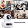 best Sricam 1080P Wireless HD 2.0MP WLAN H.264 Security CCTV Pan/Tile WiFi Baby Monitor IP Camera White UK