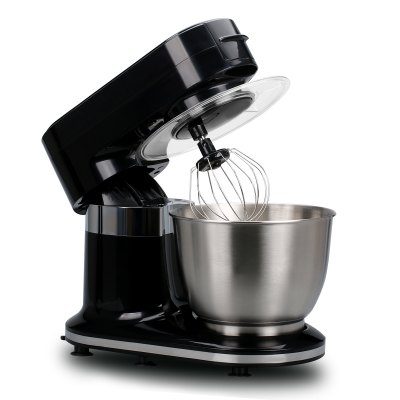 Excelvan 1000W Electric Food Stand Mixer with 5.5L Stainless Steel Bowl, Splash Guard and 3 Mixing Attachments-Beater, Dough Hook & Balloon Whisk, Black stainless steel manual push self turning stirrer egg beater whisk mixer kitchen wholesale price