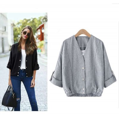 2016 Autumn spring new arrival button fly casual woman short style cardigan