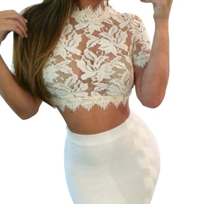 women Sexy Blouse 2016 New Apparel  elegant  lace blouse shirt Women tops long sleeve vintage girls short Culb Bodycon blouse blusasCrop Tops<br>women Sexy Blouse 2016 New Apparel  elegant  lace blouse shirt Women tops long sleeve vintage girls short Culb Bodycon blouse blusas<br>
