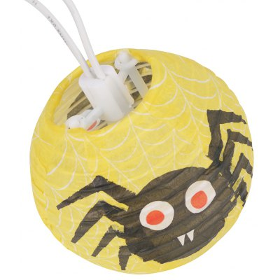 6.9 ft Battery Powered 10 LED Spider Patterned Lantern