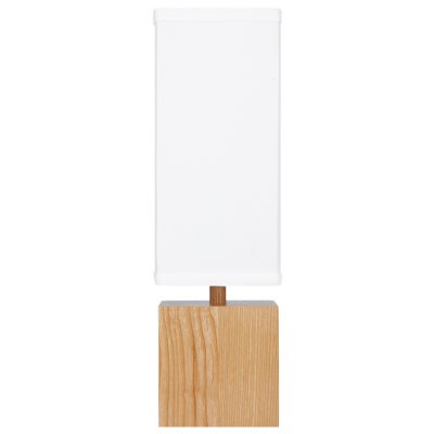 Finether Wood Linen Shade Table Lamp