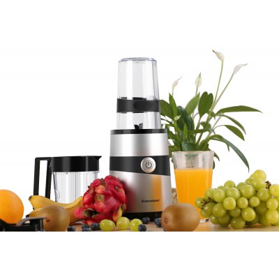 Excelvan 1000W, 18000 RPM Nutri Multi-Functional Nutrient Extractor Blender Mixer Juicer with 7 Piece Set, 0.6L Cup & 0.35L Cup, Black & Silver Spraying, BPA FREE 900w fruit mixer machine vegetable superfood blender processor juicer extractor free shipping