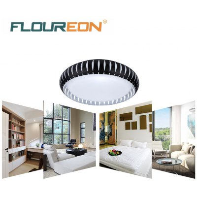 Floureon®18inch 30W Round LED Ceiling Light,Metal Frame,220V, 3000-6500k Bright Light, 3900Lumens, 18inch Round Flush Mount Fixture for Indoor Lighting, Energy Saving, Perfect for Bedroom, Living Room