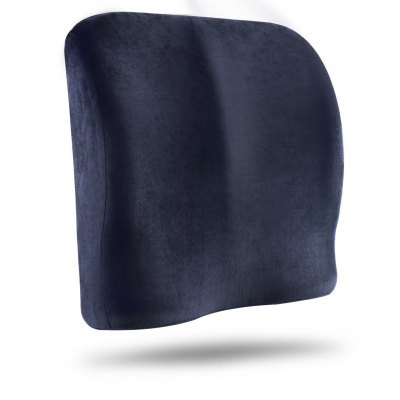 (PIL MEMORY FOAM) LANGRIA  Memory Foam Lumbar Support CertiPUR-US Certified Back Cushion Seat Wedge Cushion with Elastic Strap Dual Use, Navy BlueCushion<br>(PIL MEMORY FOAM) LANGRIA  Memory Foam Lumbar Support CertiPUR-US Certified Back Cushion Seat Wedge Cushion with Elastic Strap Dual Use, Navy Blue<br>