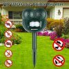 Excelvan PIR Ultrasonic Animal Deterrent Repeller GH-502