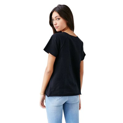 2016 Spring and summer pure color T-shirt woman short sleeve and strap in the chest design loose woman topsTops<br>2016 Spring and summer pure color T-shirt woman short sleeve and strap in the chest design loose woman tops<br>