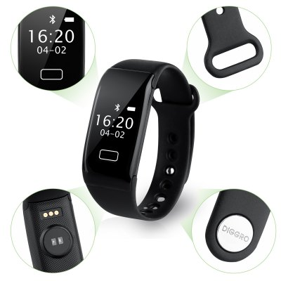 Diggro K18S Heart Rate Bracelet