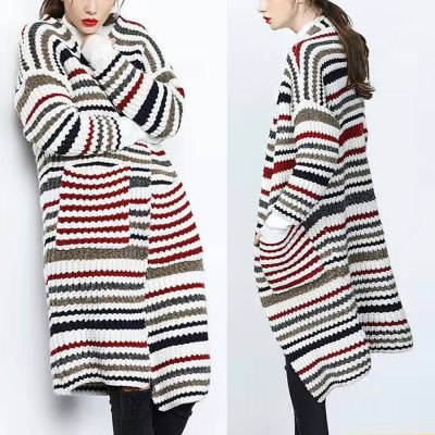 Autumn winter casual  style strap pocket front 2016 new long style long sleeve  woman sweater cardigan