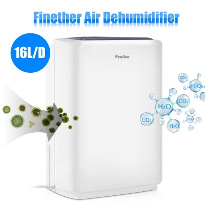 Finether 16L/D Air Dehumidifier Digital LCD Anion Air Purify Drying laundry Defrost Timer Continuous Drainage Damp Mould Home Kitchen UK