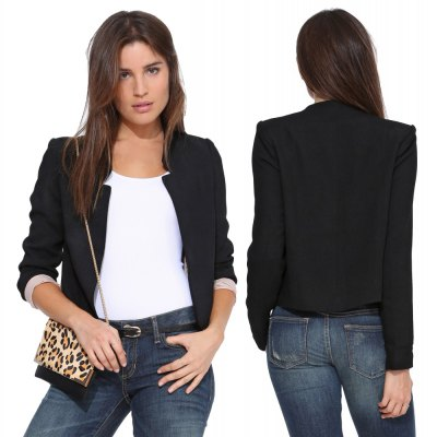 Autumn  casual short   style stand collar   2016 new style long sleeve  woman suit coatBlazers<br>Autumn  casual short   style stand collar   2016 new style long sleeve  woman suit coat<br>