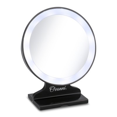 Ovonni Tabletop Vanity 5X Magnification Cosmetic Mirror LED Lighted Makeup MirrorMakeup Brushes &amp; Tools<br>Ovonni Tabletop Vanity 5X Magnification Cosmetic Mirror LED Lighted Makeup Mirror<br>